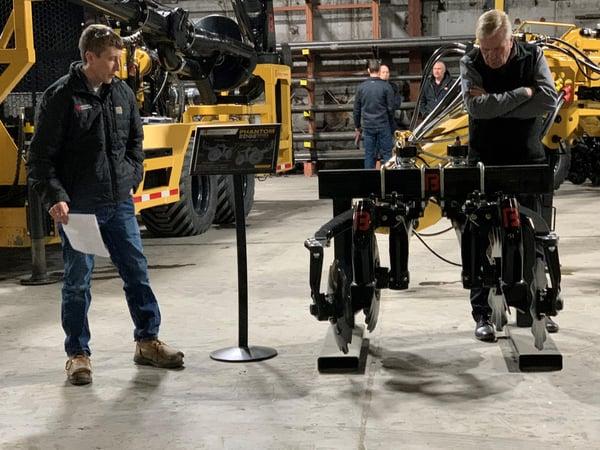 Jeremy Vittetoe and Roger Homan inspect some enhancements